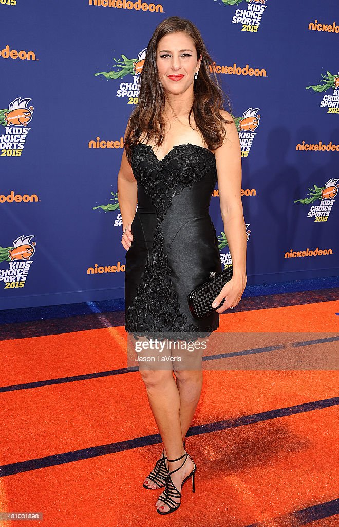 Soccer player Carli Lloyd attends the Nickelodeon Kids' Choice Sports Awards at UCLA's Pauley Pavilion on July 16, 2015 in Westwood, California.