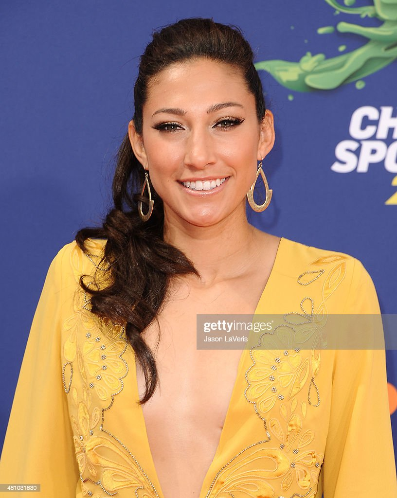 Soccer player Christen Press attends the Nickelodeon Kids' Choice Sports Awards at UCLA's Pauley Pavilion on July 16, 2015 in Westwood, California.