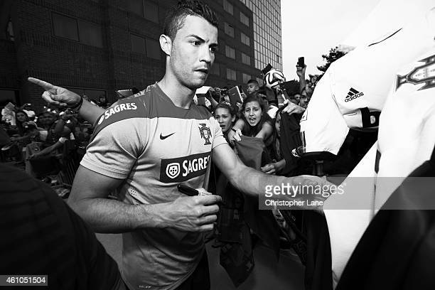 Soccer player Cristiano Ronaldo is photographed for Fortune Magazine on June 4 2014 in Summit New Jersey