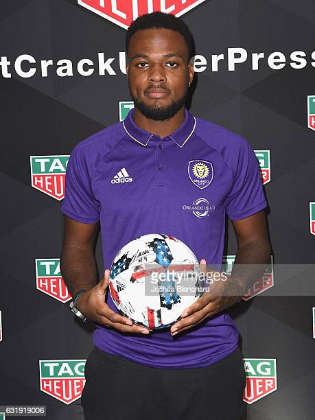MLS soccer player Cyle Larin attends MLS Media Week Day 1 at Manhattan Beach Marriott on January 17 2017 in Manhattan Beach California