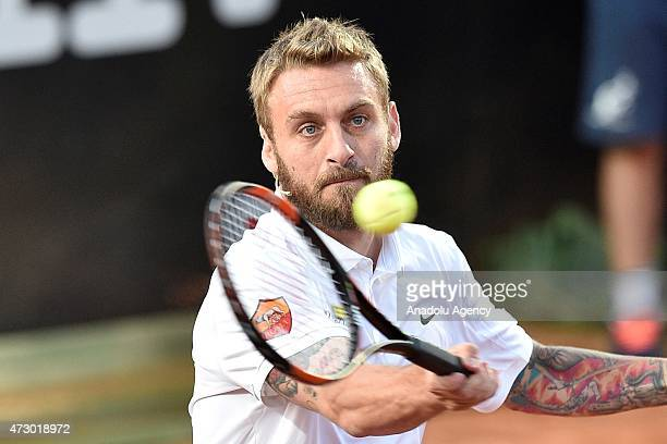 Soccer player Daniele De Rossi of Rome is in action during the 'Tennis with Stars' charity tournament involving both tennis and soccer stars in Rome...