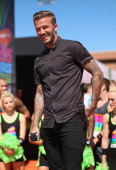 Soccer player David Beckham attends Nickelodeon Kids' Choice Sports Awards 2014 at UCLA's Pauley Pavilion on July 17 2014 in Los Angeles California