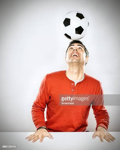 Soccer Player doing Headers