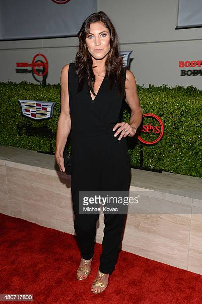 Soccer player Hope Solo attends BODY at ESPYs at Milk Studios on July 14 2015 in Hollywood California