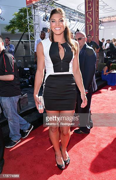 USA soccer player Hope Solo attends The 2013 ESPY Awards at Nokia Theatre LA Live on July 17 2013 in Los Angeles California