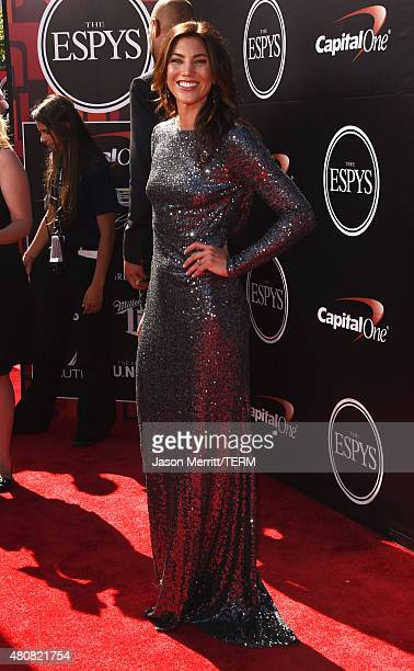 USWNT soccer player Hope Solo attends The 2015 ESPYS at Microsoft Theater on July 15 2015 in Los Angeles California