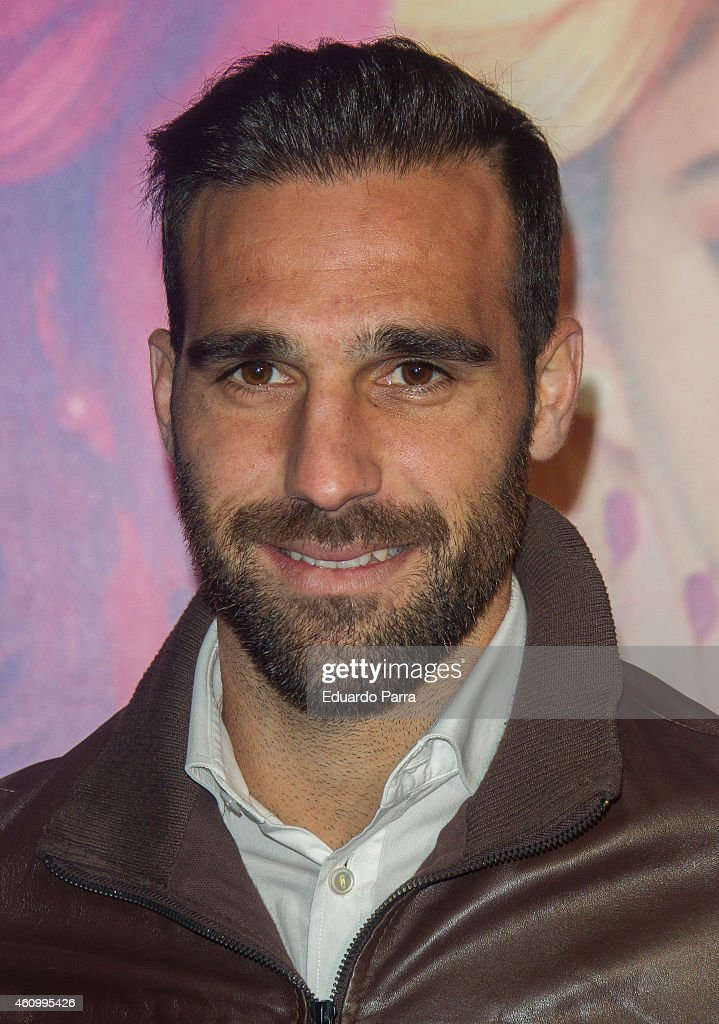Soccer player Jesus Gamez attends 'Violetta' concert photocall at Barclaycard Center on January 3, 2015 in Madrid, Spain.