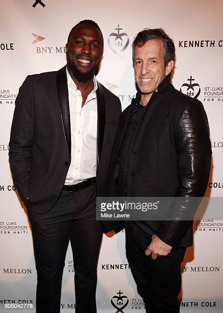 Soccer player Jozy Altidore and designer Kenneth Cole attend A Celebration For St Luke's Hospital at the Garage on January 14 2016 in New York City