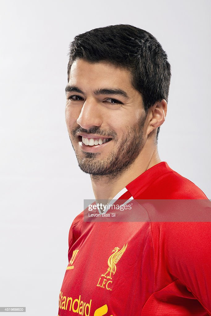 Soccer player Luis Suarez is photographed for Sports Illustrated on April 9, 2014 in London, England.