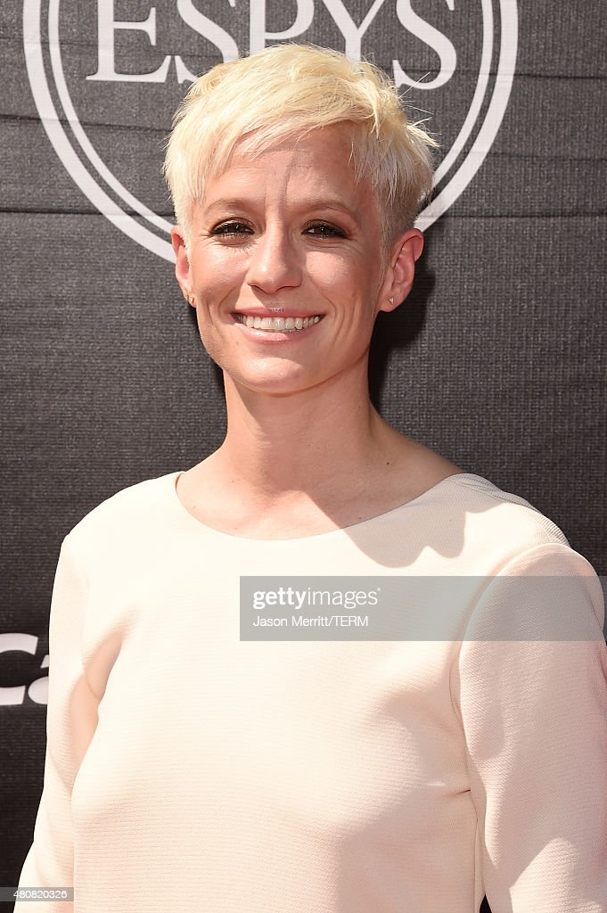 USWNT soccer player <a gi-track='captionPersonalityLinkClicked' href=/galleries/search?phrase=Megan+Rapinoe&family=editorial&specificpeople=736784 ng-click='$event.stopPropagation()'>Megan Rapinoe</a> attends The 2015 ESPYS at Microsoft Theater on July 15, 2015 in Los Angeles, California.