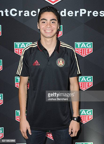 MLS soccer player Miguel Almiron attends MLS Media Week Day 2 at Manhattan Beach Marriott on January 18 2017 in Manhattan Beach California