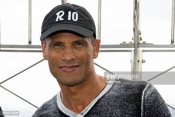 Soccer player Rivaldo visits The Empire State Building on March 17 2015 in New York City