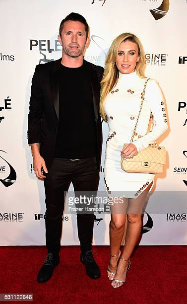 Soccer Player Robbie Keane and Claudine Keane arrive at the Premiere of IFC Films' 'Pele Birth Of A Legend' at Regal Cinemas LA Live on May 12 2016...