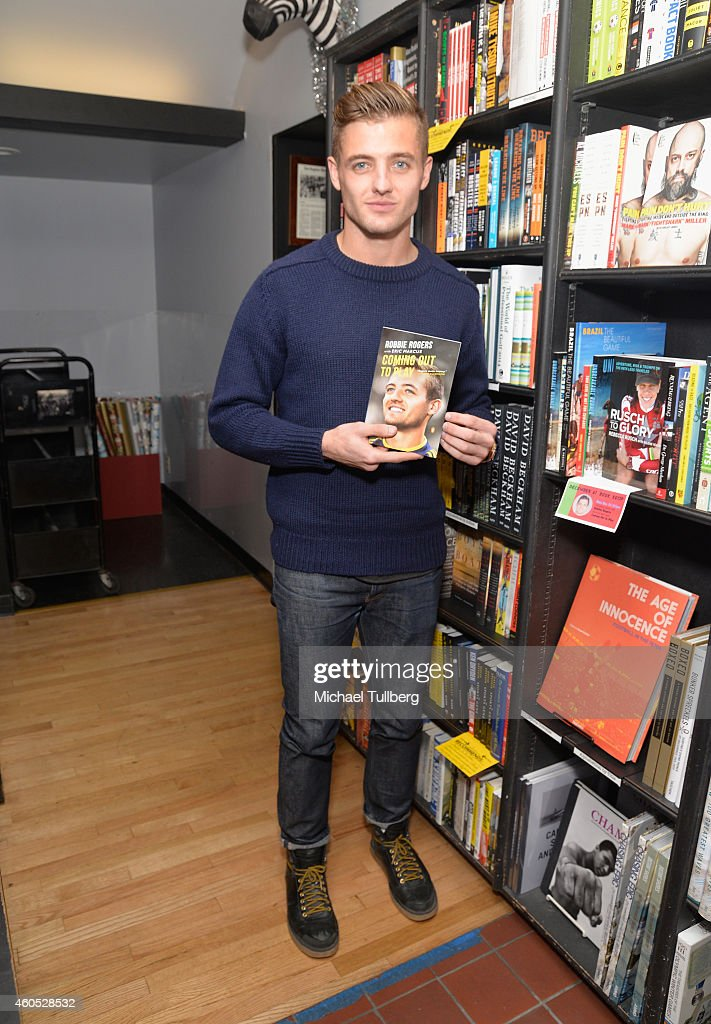 Soccer player Robbie Rogers attends a signing for his book 'Coming Out To Play' at Book Soup on December 15 2014 in West Hollywood California