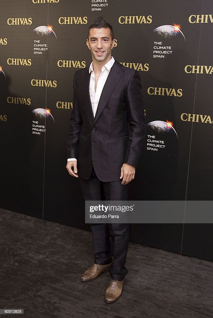 Soccer player Simao Sabrosa attends The Climate Project photocall at Chivas Studio on October 29, 2009 in Madrid, Spain.