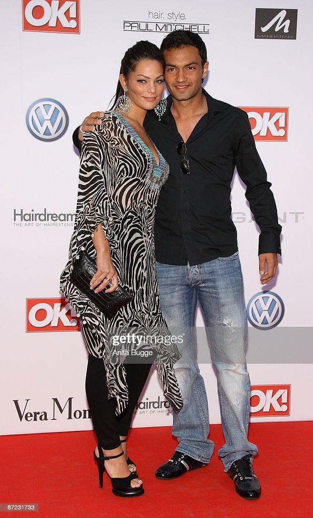Soccer player Sofian Chahed and Rossana Alva attend the 'OK Style Award' on May 14 2009 in Berlin Germany