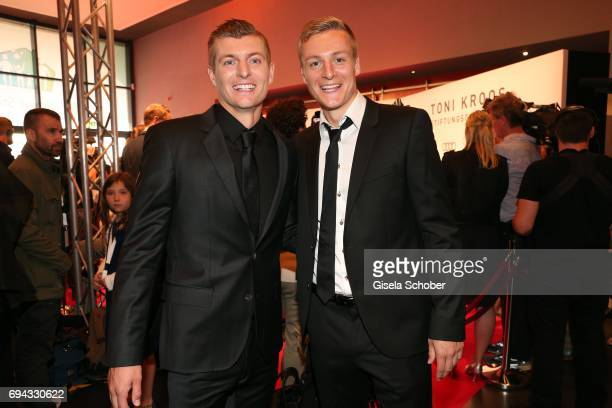 Soccer player Toni Kroos and his brother Felix Kroos during the Toni Kroos charity gala benefit to the Toni Kroos Foundation at 'The Palladium' on...