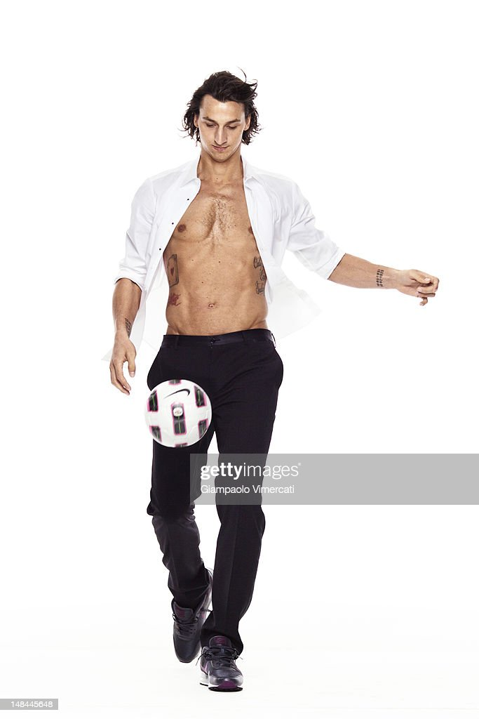Soccer player Zlatan Ibrahimovic is photographed for Vanity Fair - Italy on November 2, 2010 in Milan, Italy.