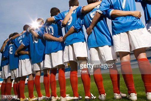 Soccer Players at Stadium