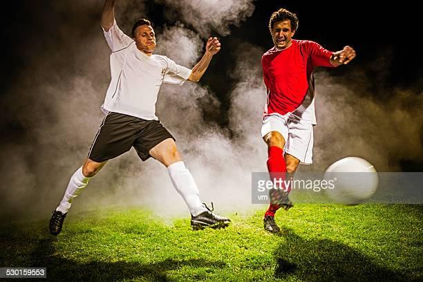 Fußball Spieler in Aktion