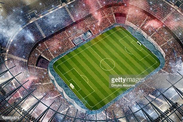 サッカースタジアムの眺め