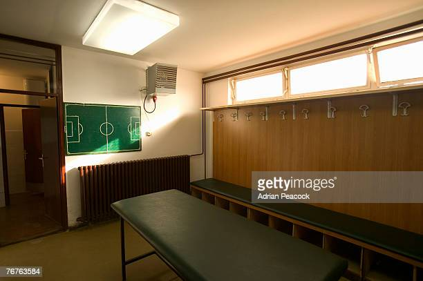 Soccer team locker room
