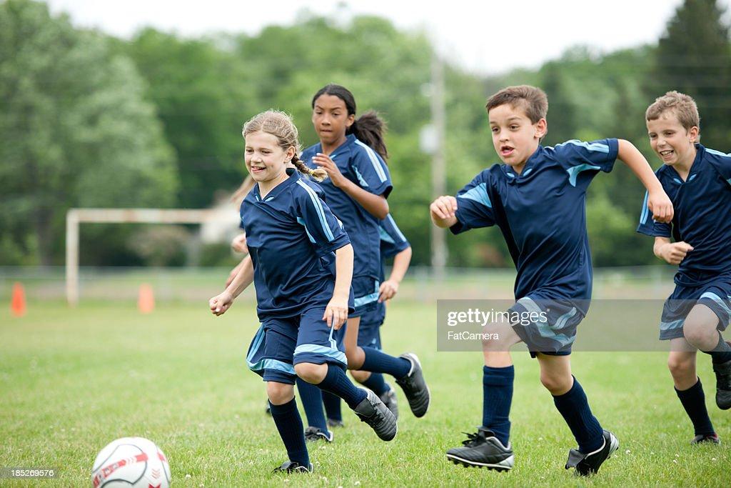 Soccer team : Stock Photo