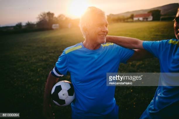 Voetbal teamgenoten
