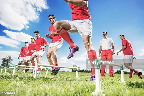 Soccer training.