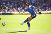 USA Alex Morgan in action vs New Zealand during International Friendly at Busch Stadium St Louis MO 4/4/2015 CREDIT David E Klutho