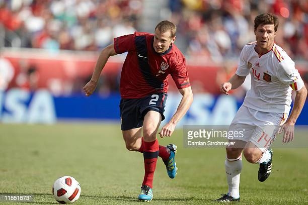 USA Jonathan Spector in action vs Spain during International Friendly at Gillette Stadium Foxborough MA CREDIT Damian Strohmeyer