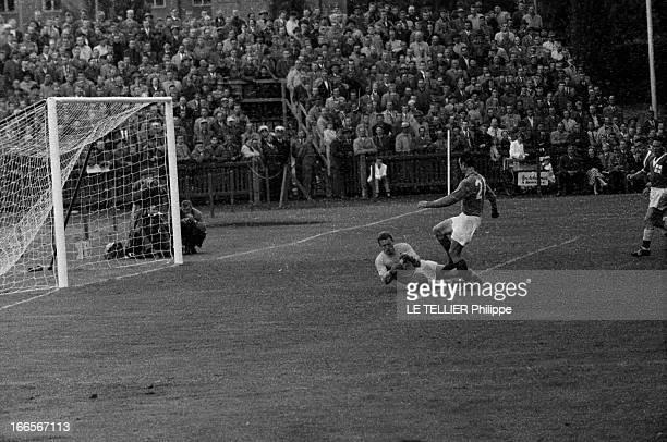 Match France Against Ireland En Suède au stade Idrottsparken à Norrköping le 19 juin 1958 lors de la Coupe du Monde de football 1958 à l'occasion du...