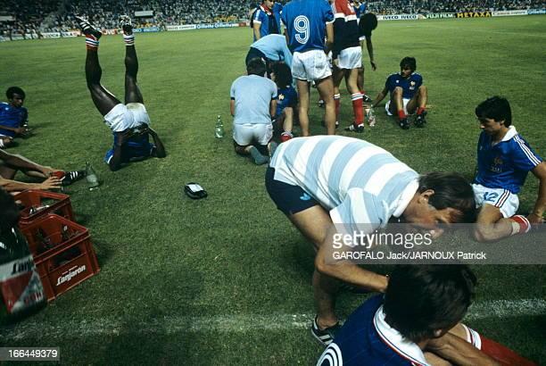 Soccer World Cup 1982 Séville 8 juillet 1982 Coupe du monde de football 1982 Match de demifinale France Allemagne La France perd aux tirs aux buts...
