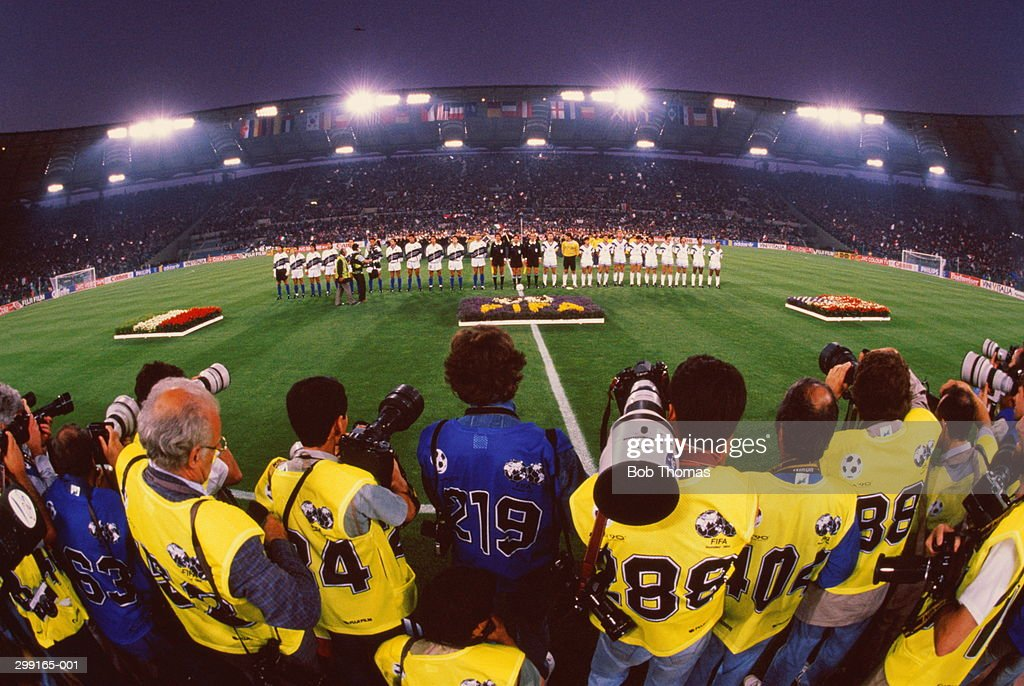Soccer World Cup, opening ceremony of Italy V USA match, 1990 : Stock Photo
