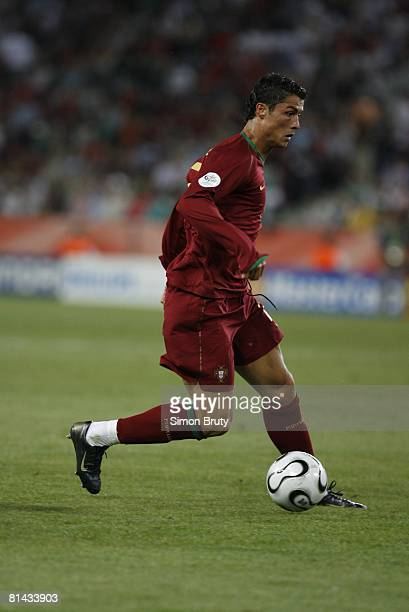 Soccer World Cup Portugal Cristiano Ronaldo in action vs Angola Cologne Germany 6/11/2006