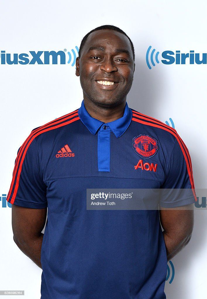 Soccer/football player Andy Cole visit SiriusXM on May 06, 2016 in New York, New York.