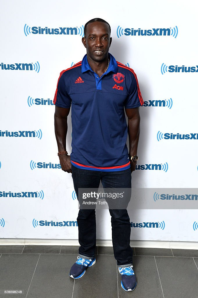 Soccer/football player Dwight Yorke visits SiriusXM on May 06, 2016 in New York, New York.