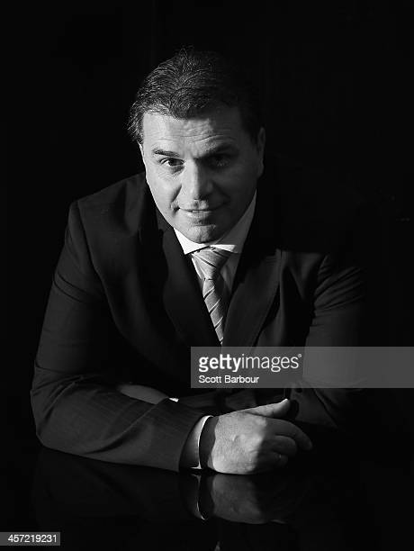 Socceroos coach Ange Postecoglou poses for a portrait during the FFA Teams of the Decades announcements at Crown Towers on December 17 2013 in...