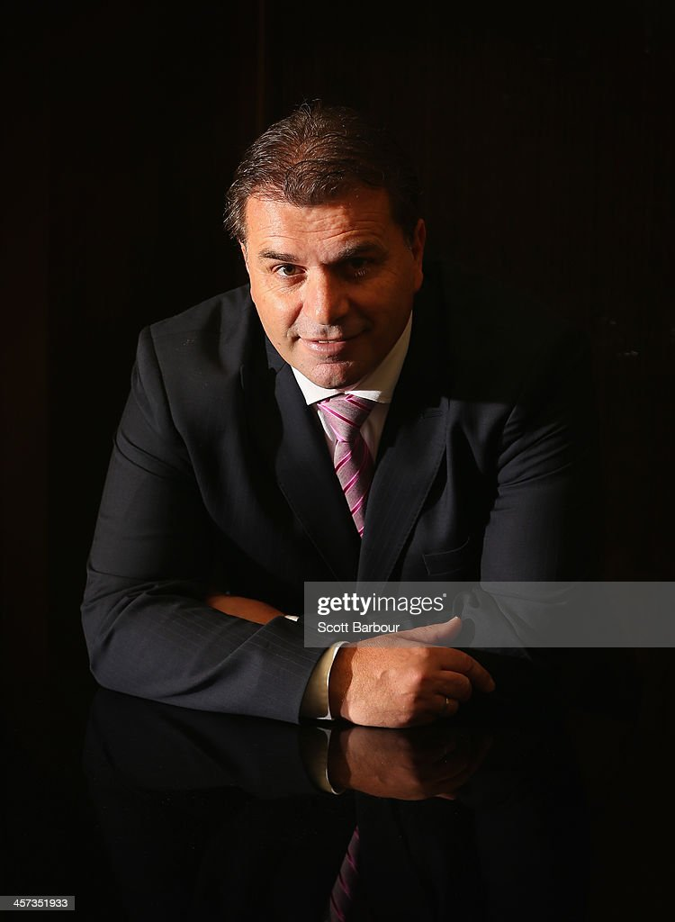 Socceroos coach <a gi-track='captionPersonalityLinkClicked' href=/galleries/search?phrase=Ange+Postecoglou&family=editorial&specificpeople=3395755 ng-click='$event.stopPropagation()'>Ange Postecoglou</a> poses for a portrait during the FFA Teams of the Decades announcements at Crown Towers on December 17, 2013 in Melbourne, Australia. Football Federation Australia (FFA) celebrated the heroes of yesterday by naming its Teams of the Decades in conjunction with the 50th Anniversary of FIFA Membership at a Hall of Fame function.
