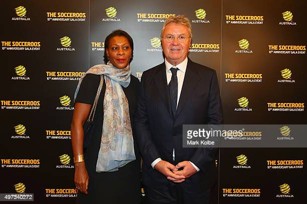 Socceroos coach Guus Hiddink and his partner Liesbeth Pinas pose as they arrive for the 10th Anniversary Gala Event of 2006 FIFA World Cup...