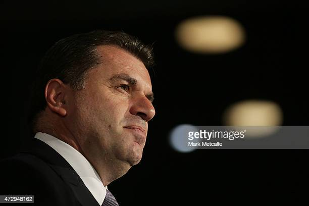 Socceroos head coach Ange Postecoglou arrives ahead of the ALeague WLeague 2014/15 Awards Night at Carriageworks on May 11 2015 in Sydney Australia