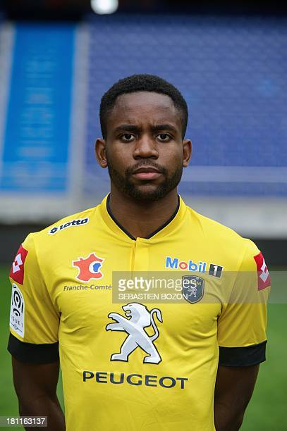 Sochaux French forward Cedric Bakambu poses on September 19 at the Auguste Bonal Stadium in Montbeliard eastern France AFP PHOTO / SEBASTIEN BOZON