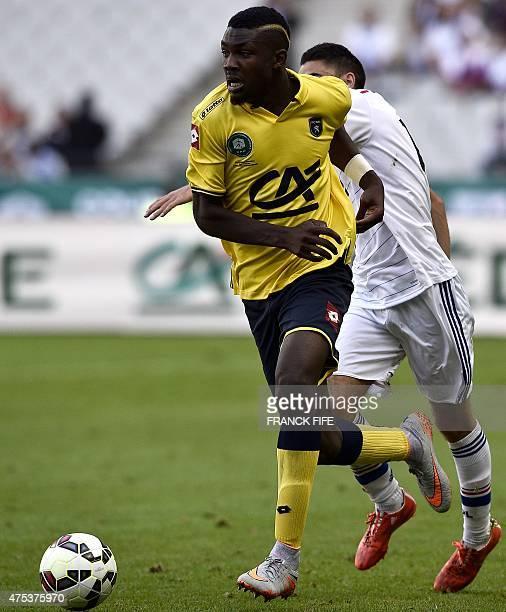 Sochaux's forward Marcus Thuram son of French football legend Lilian Thuram controls the ball during the French Gambardella Cup final football match...