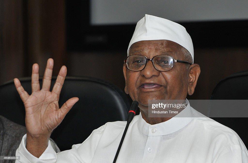 Press Conference Of Anna Hazare