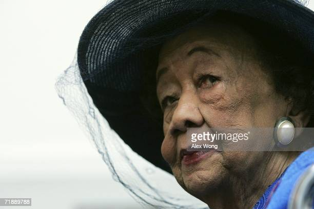 Social activist Dorothy Height listens during a hearing about voting rights in the District of Columbia before the Constitution Subcommittee of the...