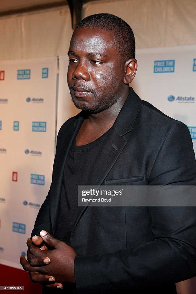 Social advocate, filmmaker and Grandson of the late, Nelson Mandela, Kweku Mandela is interviewed on the red carpet during 'We Day' at the Allstate Arena on April 30, 2015 in Rosemont, Illinois.
