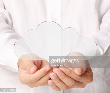 social buttons in hand : Stock Photo