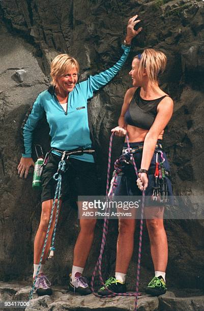 ELLEN 'Social Climber' Season Five 10/1/97 Ellen feigns athletic prowess in an effort to impress Lisa her very attractive 'spinning' instructor but...