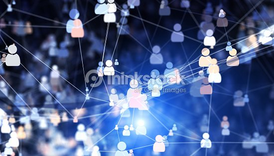 Social connections : Stock Photo