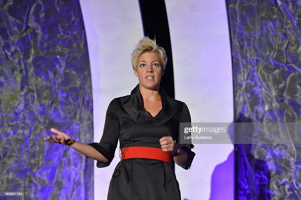 Social Entrepreneur and Founder of Back on My Feet Anne Mahlum speaks onstage at the 2013 WICT Leadership Conference at the New York Marriott on October 8, 2013 in New York City.